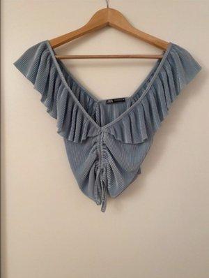 Zara Blouse topje turkoois-lichtblauw