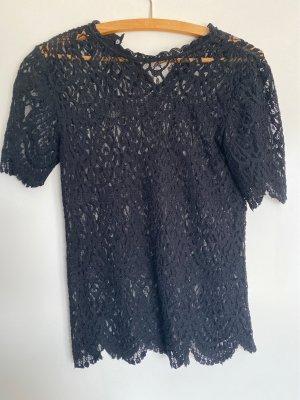 Zara Blouse met korte mouwen zwart