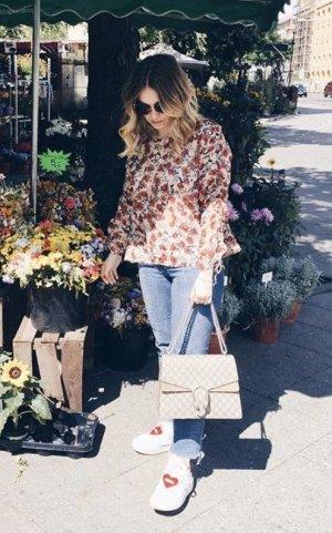 Zara Bluse floral Blumen cropped L