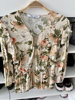 Zara Bluse floral Gr. M