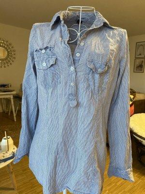 Zara Bluse gestreift blau weiß S 36
