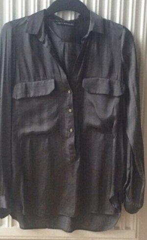 Zara Bluse gr s 34/36 Khaki grau