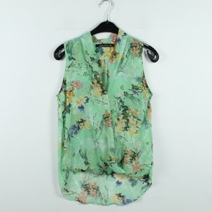 Zara Bluse Gr. S grün gemustert transparent (20/01/075)