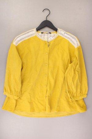 Zara Bluse Größe L 3/4 Ärmel gelb aus Baumwolle
