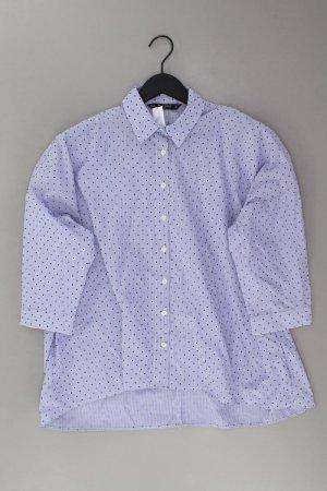 Zara Bluse Größe L neu mit Etikett blau aus Baumwolle