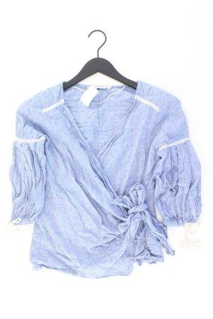 Zara Bluse Größe M blau aus Baumwolle