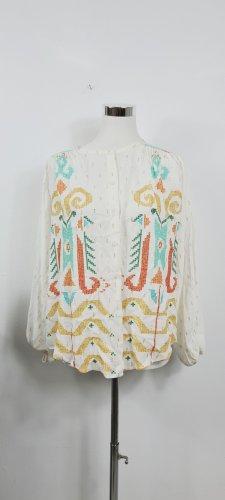 Zara Blusa tipo kimono multicolor