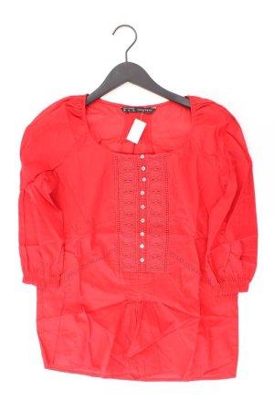 Zara Bluse Größe XS 3/4 Ärmel rot aus Baumwolle