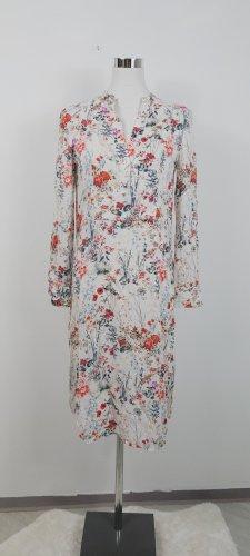 Zara Blouse à manches longues blanc-rouge clair