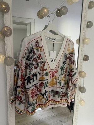 Zara Chemise à manches courtes multicolore
