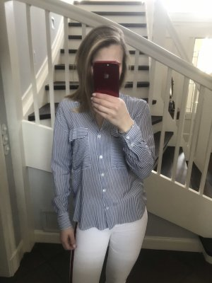 ZARA Bluse in blauweiß gestreift