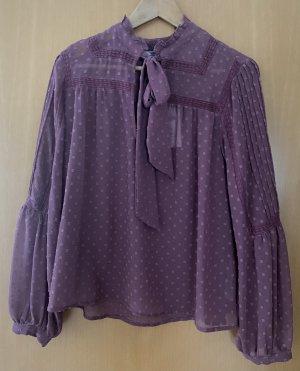 Zara Bluse in violett Gr. S