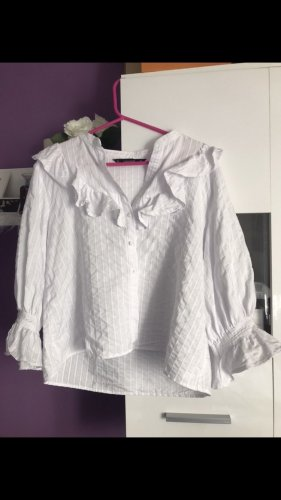 Zara Ruffled Blouse white