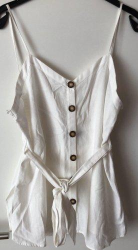 Zara Lniana bluzka biały