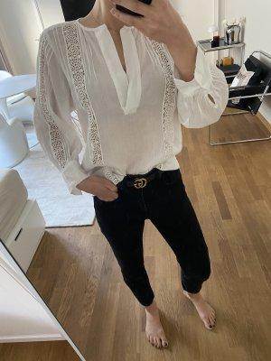 Zara Blusa de lino blanco