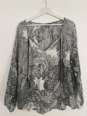 Zara Bluse luftige Tunika Größe M schwarz-weiß