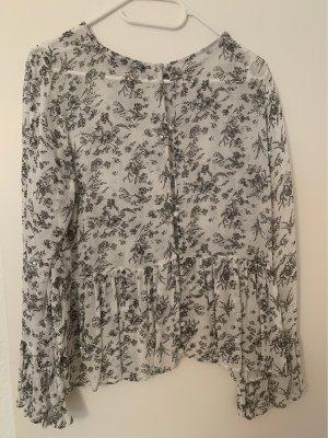 Zara Carmen blouse wit-zilver