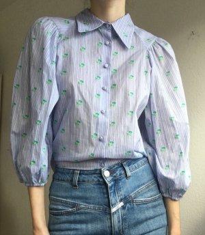 Zara Oversized blouse azuur Katoen