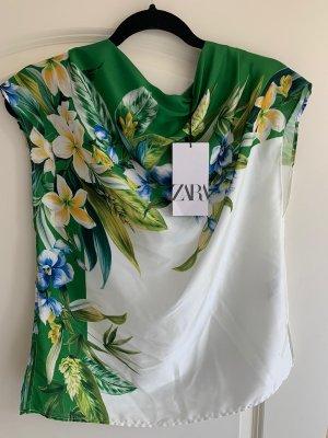 ZARA Bluse mit Blumen