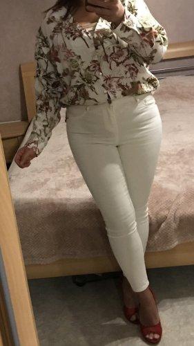 Zara Bluse mit Knöpfen Blumenprint Blättermuster S