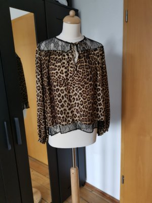 Zara Lace Blouse black-brown