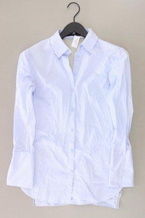 Zara Bluse mit Rückenausschnitt Größe S Langarm blau aus Baumwolle