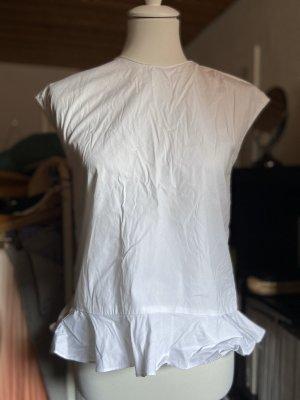Zara Bluse mit Rüschen Gr. S 36 weiß