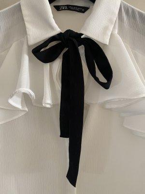 Zara bluse mit schleife