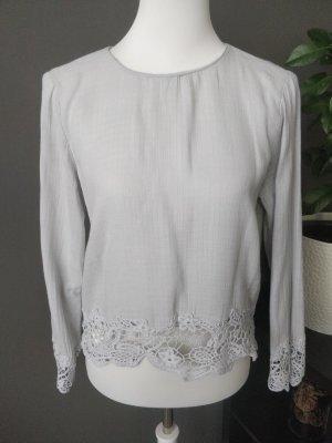 Zara Blusa a tunica grigio chiaro