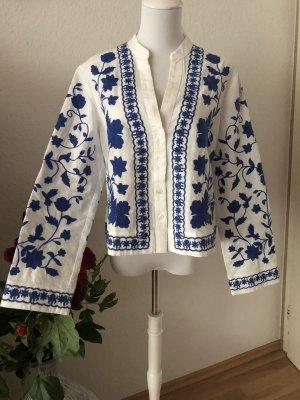Zara Dickey (for blouse) white-blue
