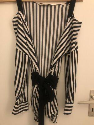 Zara Camicetta a maniche lunghe nero-bianco