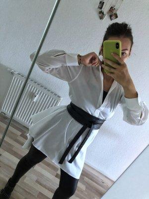Zara Woman Blusa taglie forti bianco