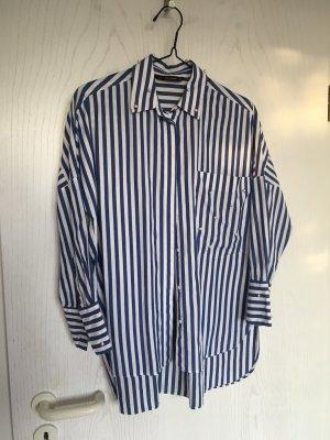 Zara Koszulowa bluzka biały-błękitny