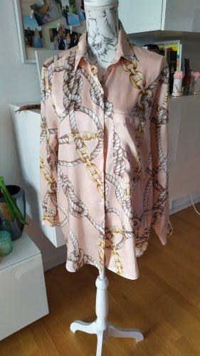 Zara Bluse rosa mit Kettendetail Gr. L wie neu