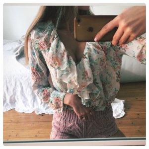 Zara Camicetta con arricciature multicolore