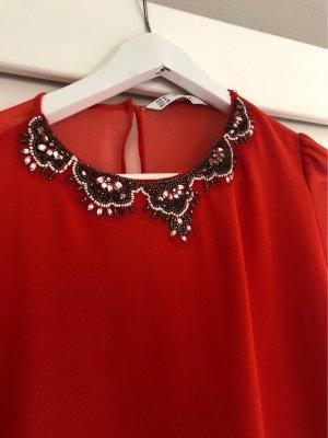Zara Bluse  schönes rot  wundervoll