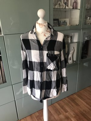 Zara Bluse schwarz/weiß
