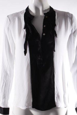 Zara Bluse schwarz-weiß