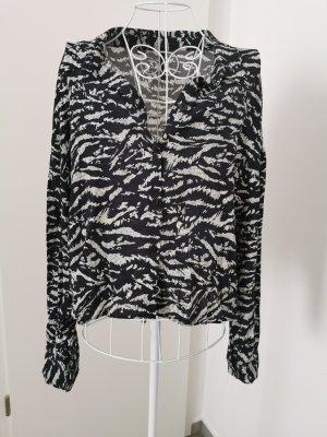 Zara Bluse schwarz weiß