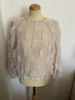 ZARA Bluse semi transparent Gr S