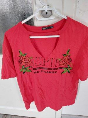 Zara Bluse Shirt Top in Rot gr.M L