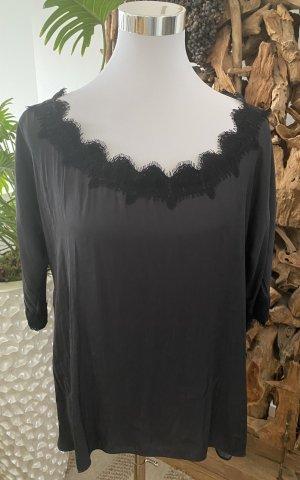 ZARA Bluse Shirt Top Seide Satin Soitze Blogger edel Luxus TOP