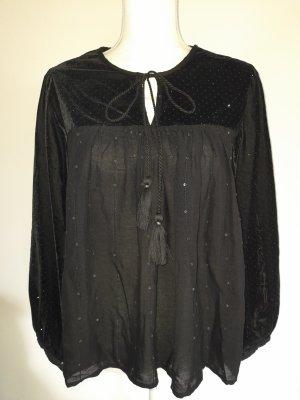 Zara Oversized Blouse black polyester