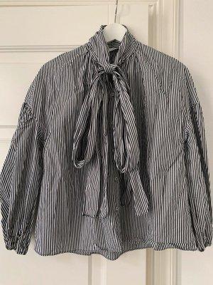 Zara Bluse Streifen mit Schleife Gr. M neu mit Etikett