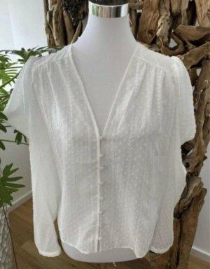 Zara Tie-neck Blouse white