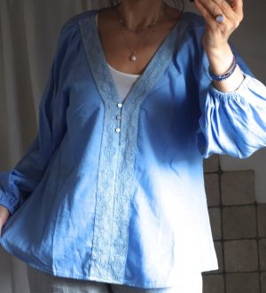 Zara Tunic Blouse cornflower blue