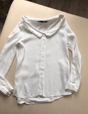Zara Bluse weiß / beige Größe S