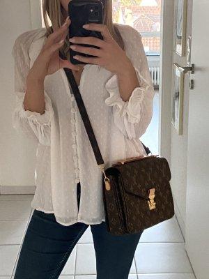 Zara bluse weiß Blogger xs 34