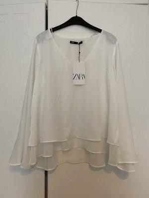 ZARA - Bluse, weiß
