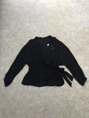 Zara Wikkelblouse zwart